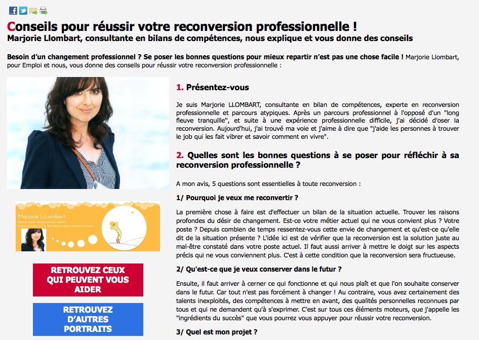 Interview Emploi et Nous - Février 2014